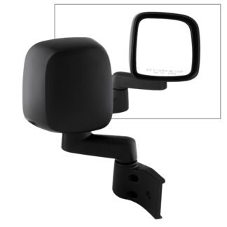 MIR-25008-221-M-R Jeep Wrangler 03-06 OE Mirror Black Manual - Right | OE# 55395060AB/AD / 55395066AB/AD  PL# CH1321234 CH1321240 CH1321259