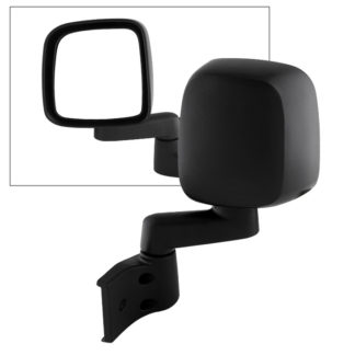 MIR-25008-222-M-L Jeep Wrangler 03-06  OE Mirror Black Manual - Left | OE# 55395061AB/AD / 55395067AB/AD   PL# CH1320234 CH1320240 CH1320259