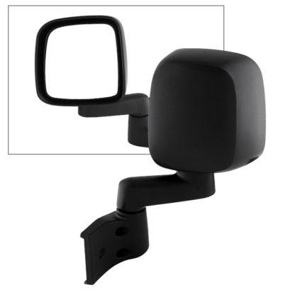 MIR-25008-222-M-L Jeep Wrangler 03-06  OE Mirror Black Manual - Left | OE# 55395061AB/AD / 55395067AB/AD   PL# CH1320234 CH1320240 CH1320259