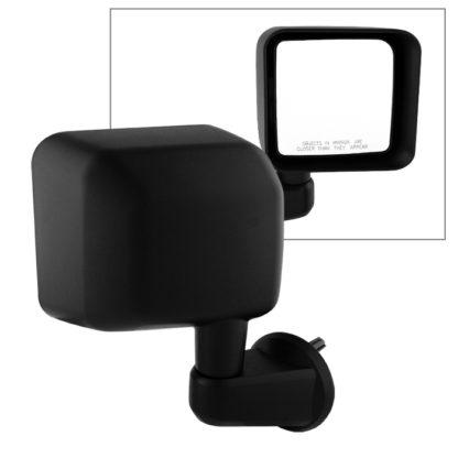 MIR-25012-821-M-R Jeep Wrangler 07-15 OE Mirror Black Manual - Right | OE# 55077966AB   PL# CH1321271