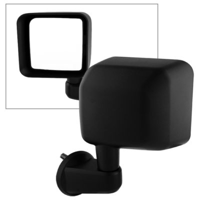 MIR-25012-822-M-L Jeep Wrangler 07-15 OE Mirror Black Manual - Left | OE# 55077967AB   PL# CH1320271