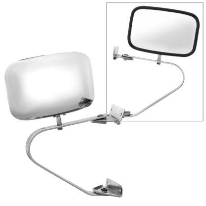 MIR-31000-SS-0 Ford Pickup / Bronco 80-97 OE Mirror Chrome Manual - Fit Both Side / OE# E5TZ-17696-A (B) PL# FO1321102 FO1320102