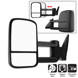 MIR-CCK88-MA-L Chevy C10 88-98 Manual Extendable - Manual Adjust Mirror - Left
