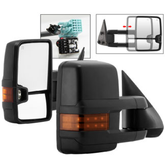 MIR-CS03S-G2-PWH-AM-SET Chevy Silverado 03-06 G2 Power Heated Amber LED Signal Telescoping Mirror - SET