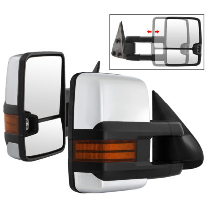 MIR-CS03S-G3C-MA-AM-SET Chevy Silverado 99-06 G3 LED Signal Telescoping Mirror Chrome Cover - SET