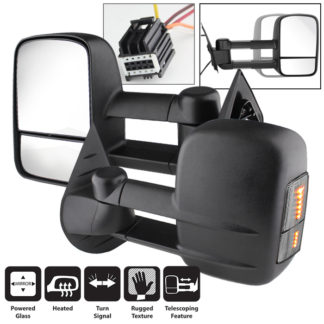MIR-CSIL07S-PW-SM Pair - Chevy Silverado 07-12 Manual Extendable - POWER Heated Adjust Mirror with LED Signal SmokeFit:Chevy Avalanche 1500 2007-13 /Chevy Silverado 1500 New Body Style 2007 /Chevy Silverado 1500 2008-13 /Chevy Silverado 2500 HD 2008-13 /Chevy Silverado 2500 HD New Body Style 2007 /Chevy Silverado 3500 New Body Style 2007 /Chevy Silverado 3500 2008-13 /Chevy Silverado Hybrid New Body 2007 /Chevy Silverado Hybrid 2009-13 /Chevy Suburban 1500 2007-13 /Chevy Suburban 2500 2007-13 /Chevy Tahoe 2007-13 /GMC Sierra 1500 2008-13 /GMC Sierra 1500 New Body Style 2007 /GMC Sierra 2500 HD New Body Style2007 /GMC Sierra 2500 HD 2008-13 /GMC Sierra 3500 New Body Style 2007 /GMC Sierra 3500 2008-13 /GMC Sierra Denali 1500 2008-13 /GMC Sierra Denali 1500 New Body Style 2007 /GMC Sierra Denali 2500 HD 2011-13 /GMC Sierra Denali 3500 HD 2011-13 /GMC Sierra Hybrid New Body Style 2007 /GMC Sierra Hybrid 2009-13 /GMC Yukon 2007-13 /GMC Yukon XL 1500 2007-13 /GMC Yukon XL 2500 2007-13 /GMC Yukon XL Denali 2007-13