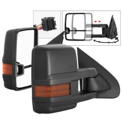 MIR-CSIL14S-G2-PWH-AM-SET Chevy Silverado 14-16 G2 Power Heated Amber LED Signal Telescoping Mirror - SET