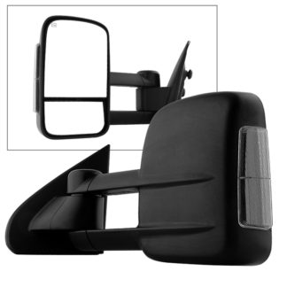 MIR-CSIL14S-PWH-SM-L Chevy Silverado 14-15 POWER Heated Smoke LED Signal Telescoping Mirror - Left
