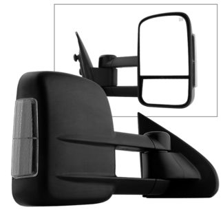 MIR-CSIL14S-PWH-SM-R Chevy Silverado 14-15 POWER Heated Smoke LED Signal Telescoping Mirror - Right