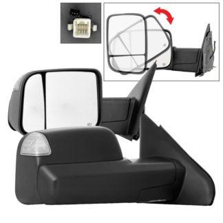 MIR-DRAM02S-G2-PW-SET Dodge Ram 02-09 G2 Manual Extendable - POWER Heated Adjust Mirror - SET Fit Dodge Ram 1500 2002-08 / Dodge Ram 2500 2003-09 / Dodge Ram 3500 2003-09 /