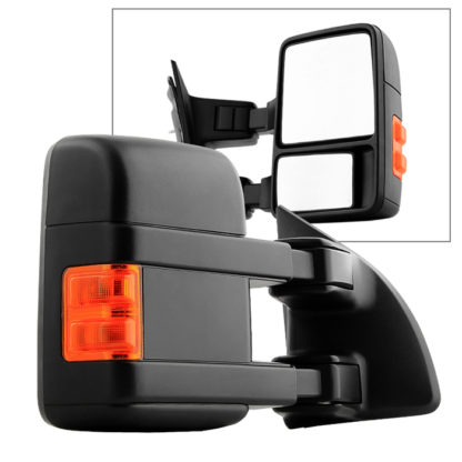 MIR-FDSD08S-MA-AM-R Ford SuperDuty 99-14 Manual Extendable - Manual Adjust Mirror with LED Signal Amber- Right