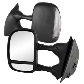 MIR-FDSD99S-MA-SM Pair - Ford Superduty 02-07 Manual Extendable - Manual Adjust Mirror with LED Signal Smoke.   (99-01 Need Socket)Fit:Ford Excursion 2000-05 Ford F250 Super Duty Truck 1999 Ford F250 Super Duty Truck 2000-10 Ford F350 Super Duty Truck 1999-10 Ford F450 Truck 1999-03 Ford F550 Truck1999-03