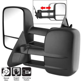 MIR-FF15097-MA-SET Ford F150/250 97-03 L&R Manual Extendable - MANUAL Adjust Mirror. Fit:1997-00 Ford F150 Truck Manual 2001-03 Ford F150 Truck Manual (Except Crew Cab)1997-99 Ford F250 Light Duty Truck Manual 2004 Ford F150 Heritage Truck Manual