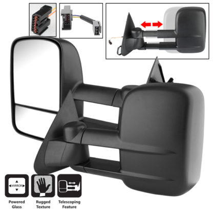 MIR-FF15097-PW-SET Ford F150/250 97-03 L&R Manual Extendable - POWER Adjust Mirror. Fit:Ford F150 Heritage 2004 Ford F150 1997-00 Ford F150 2001-03Ford F250 1997-99
