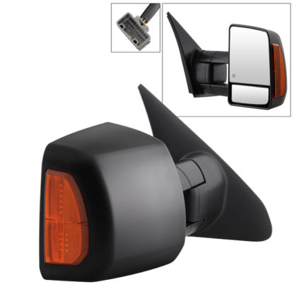 MIR-TTUN07S-PWH-R Toyota Tundra 07-14 Power Heated Amber LED Signal Telescoping Mirror - Right