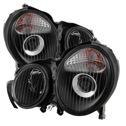 Mercedes Benz W210 E-Class 00-02 Projector Headlights - Black