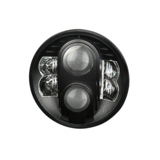 Round Sealed Beam 7 Inch LED Headlights ( High/Low Beam ) w/2xH4 to H13 Connector – Black