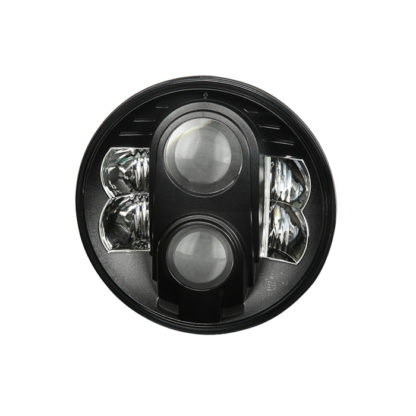 Round Sealed Beam 7 Inch LED Headlights ( High/Low Beam ) w/2xH4 to H13 Connector - Black