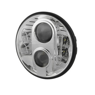 Round Sealed Beam 7 Inch LED Headlights ( High/Low Beam ) w/2xH4 to H13 Connector - Chrome