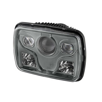 Rectangular Sealed Beam 7x6 Inch LED Headlights ( High/Low Beam ) - Black