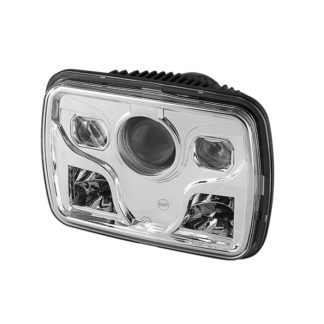 Rectangular Sealed Beam 7x6 Inch LED Headlights ( High/Low Beam ) - Chrome
