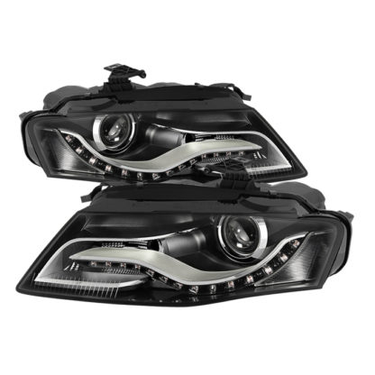 Audi A4 09-11 Projector Headlights - OE Style - Halogen Model Only ( Not Compatible With Xenon/HID Model / Does not fit the Quattro) - Black