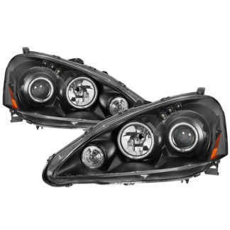 Acura RSX 2005-2006 CCFL Halo Projector Headlights - Black