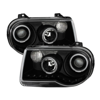 Chrysler 300C 05-10 ( Don't fit 300 ) Halo Projector Headlights - Black