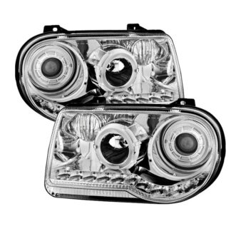 Chrysler 300C 05-10 ( Don't fit 300 ) Halo Projector Headlights - Chrome