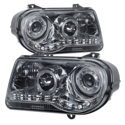 Chrysler 300C 05-10 ( Don't fit 300 ) Halo Projector Headlights - Smoke