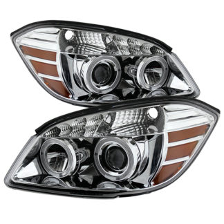 Chevy Cobalt 05-10 / Pontiac G5 07-09 / Pontiac Pursuit 05-06 Halo Projector Headlights - Chrome