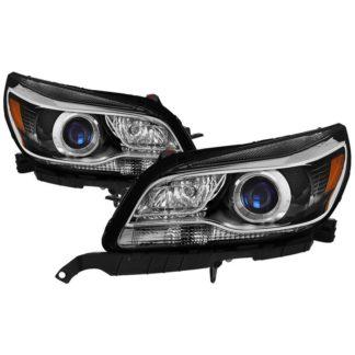 Chevy Malibu 13-15 Halogen Headlights – OE Projector Black  Fit 2013-2015 Eco  LT  LTZ and 2016 Limted LT  Limited LTZ (not fit LS)