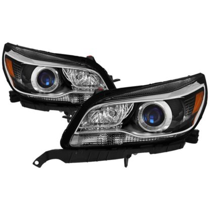Chevy Malibu 13-15 Halogen Headlights - OE Projector Black  Fit 2013-2015 Eco  LT  LTZ and 2016 Limted LT  Limited LTZ (not fit LS)