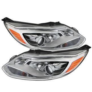Ford Focus 12-14 Projector Headlights - OE Style - Halogen Model Only ( Not Compatible With Xenon/HID Model ) - Chrome
