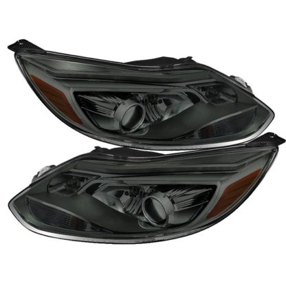 Ford Focus 12-14 Projector Headlights - OE Style - Halogen Model Only ( Not Compatible With Xenon/HID Model ) - Smoke