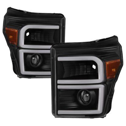 Ford F-250/F-350/F450 Super Duty 11-16 Projector Headlights - Projector Headlights - Light Tube DRL - Black
