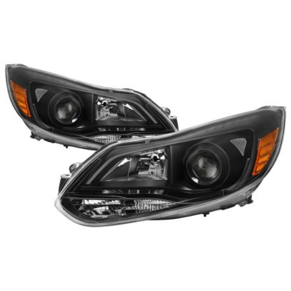 Ford Focus 12-14 Projector Headlights - Halogen Model Only ( Not Compatible With Xenon/HID Model ) - Black