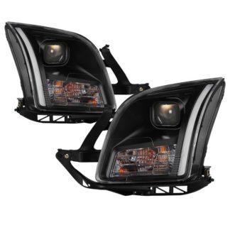 Ford Fusion 06-09 Projector Headlights - Light Bar DRL - Black