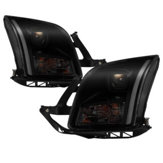 Ford Fusion 06-09 Projector Headlights - Light Bar DRL - Black Smoked