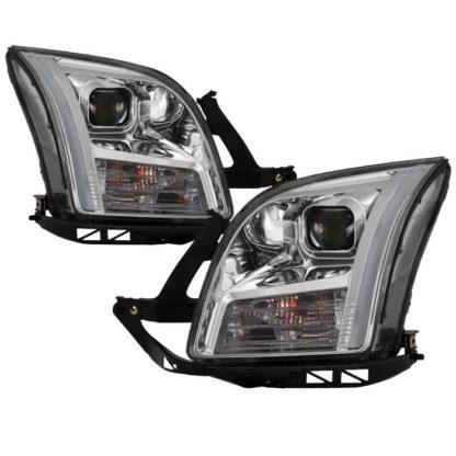 Ford Fusion 06-09 Projector Headlights - Light Bar DRL - Chrome