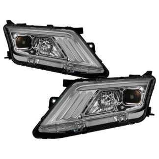 Ford Fusion 2010-2012 Projector Headlights  - Light Tube DRL - Chrome