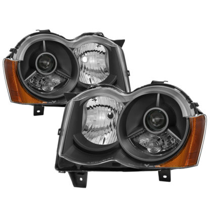 Jeep Grand Cherokee 08-10 Halogen Model Only ( Don't Fit HID Models ) OEM Style Projector Headlights - Black