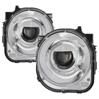 Jeep Renegade 2015-2017 Projector Headlights - Light Bar DRL -Chrome