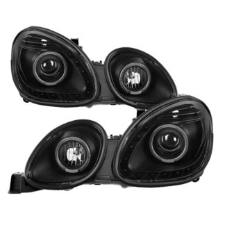 Lexus GS300/GS400/GS430 98-05 Halogen Only ( Don't Fit HID Model ) Halo Projector Headlights - Black