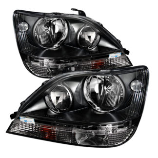 Lexus RX300 99-03 Halogen Only ( don't fit HID Models ) (Bulbs Not Included) Crystal Headlights - Black