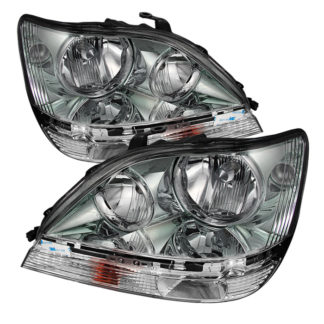 Lexus RX300 99-03 Halogen Only ( don't fit HID Models ) (Bulbs Not Included) OEM Style Headlights - Chrome