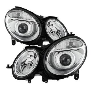 Mercedes Benz W211 E-Class 03-06 Halogen Models (Don't fit HID Models) OEM Projector Headlights – Chrome