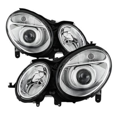Mercedes Benz W211 E-Class 03-06 Halogen Models (Don't fit HID Models) OEM Projector Headlights - Chrome