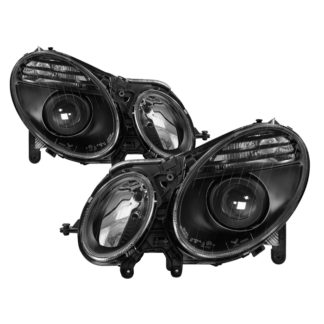 Mercedes Benz W211 E -Class 2003-2009 ( HID Models Only)  (Don't Have AFS Function )Projector Headlights - Black