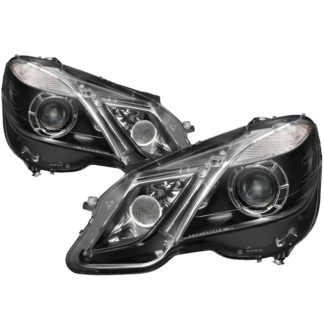 Mercedes Benz E-Class 10-13 Projector Headlights - OE Style - Halogen Model Only ( Not Compatible With Xenon/HID Model ) - Black